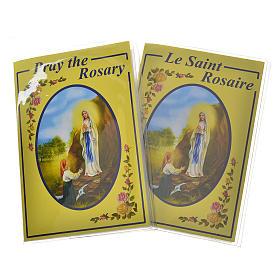 Libretto con rosario Il Santo Rosario Inglese Francese s1