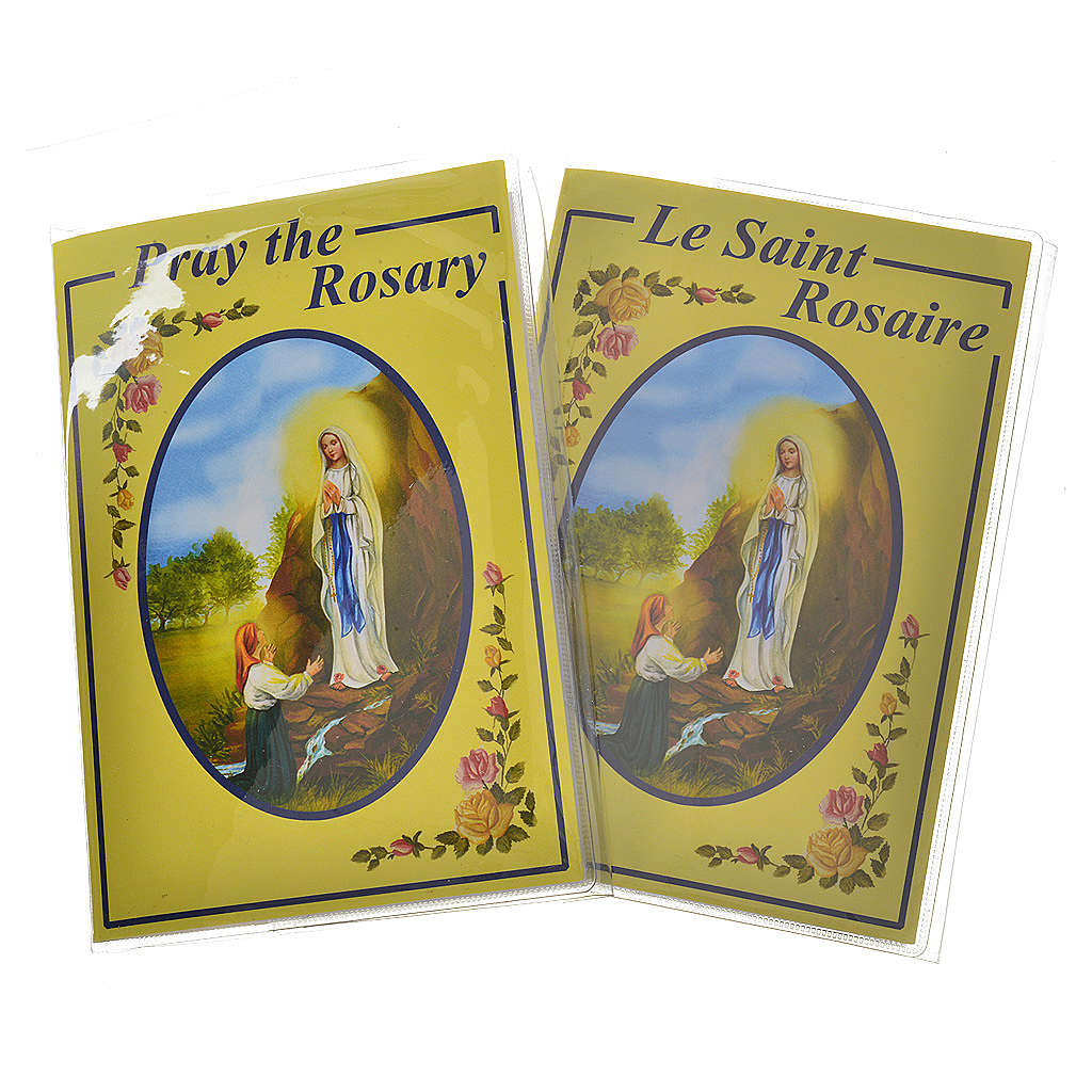 Rosary leaflet in EN or FR with rosary 4