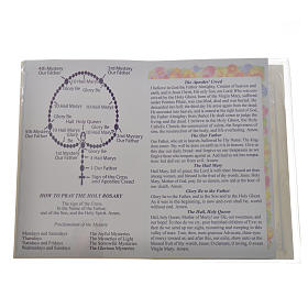 Rosary leaflet in EN or FR with rosary s7