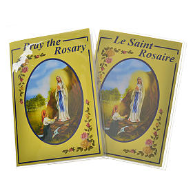 Rosary leaflet in EN or FR with rosary s1
