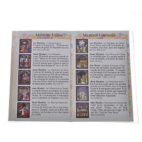 Rosary leaflet in EN or FR with rosary s3