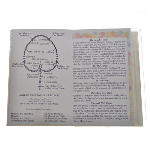 Rosary leaflet in EN or FR with rosary 7