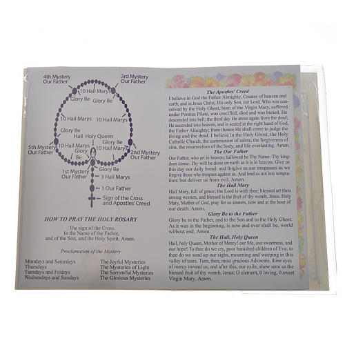 Rosary leaflet in EN or FR with rosary 2