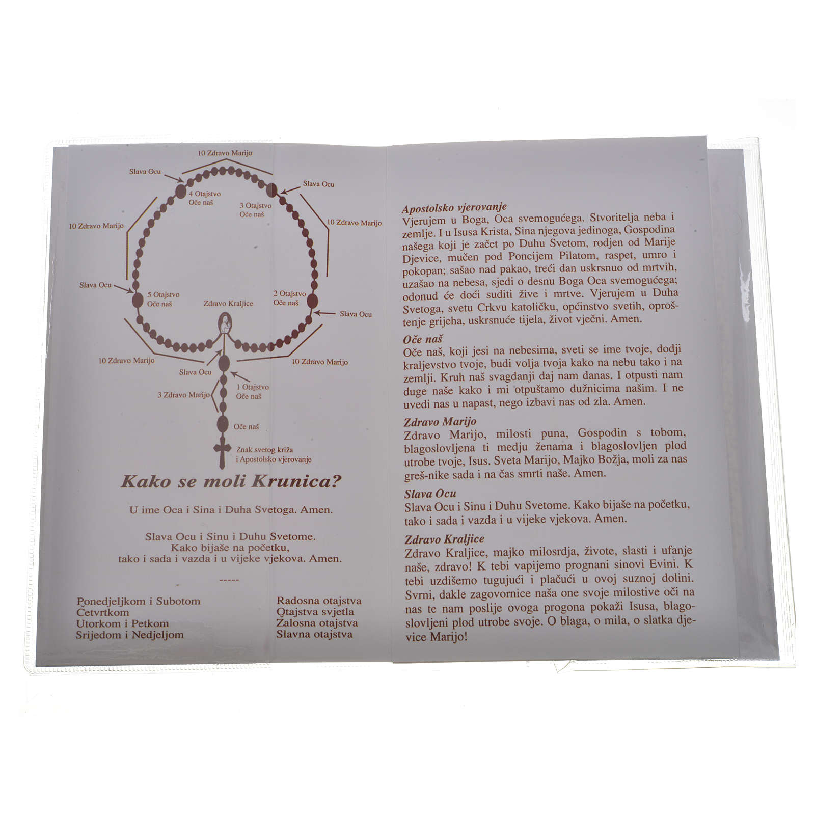 Libretto Santo Rosario Madonna Medjugorje 4