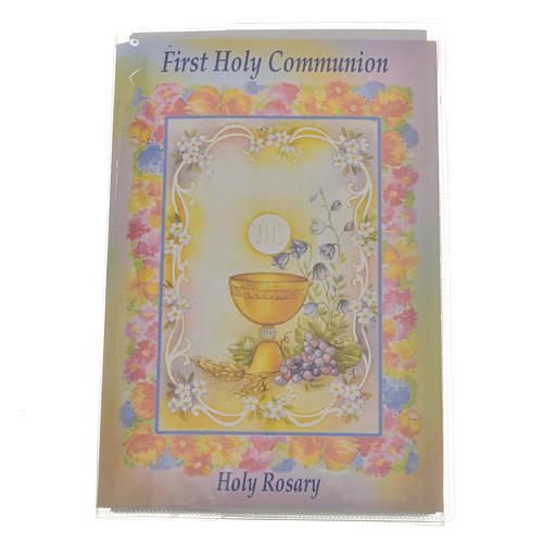 Libretto con rosario First Holy Communion INGLESE 1