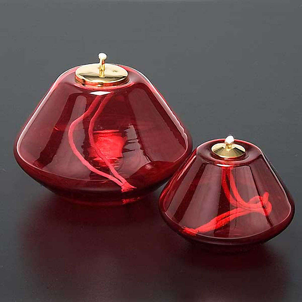 Blown-glass lantern, red 3