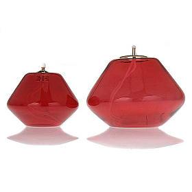 Lampka oliwna szkło czerwone s3