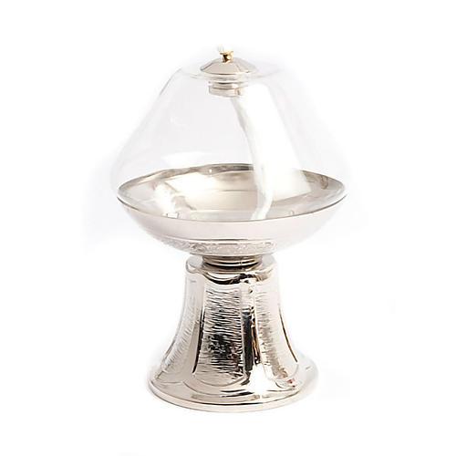 Lampe en verre transparent, base en nickel 2