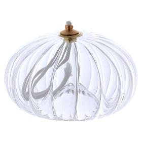 Transparent glass oil lamp, pomegranate shaped s1