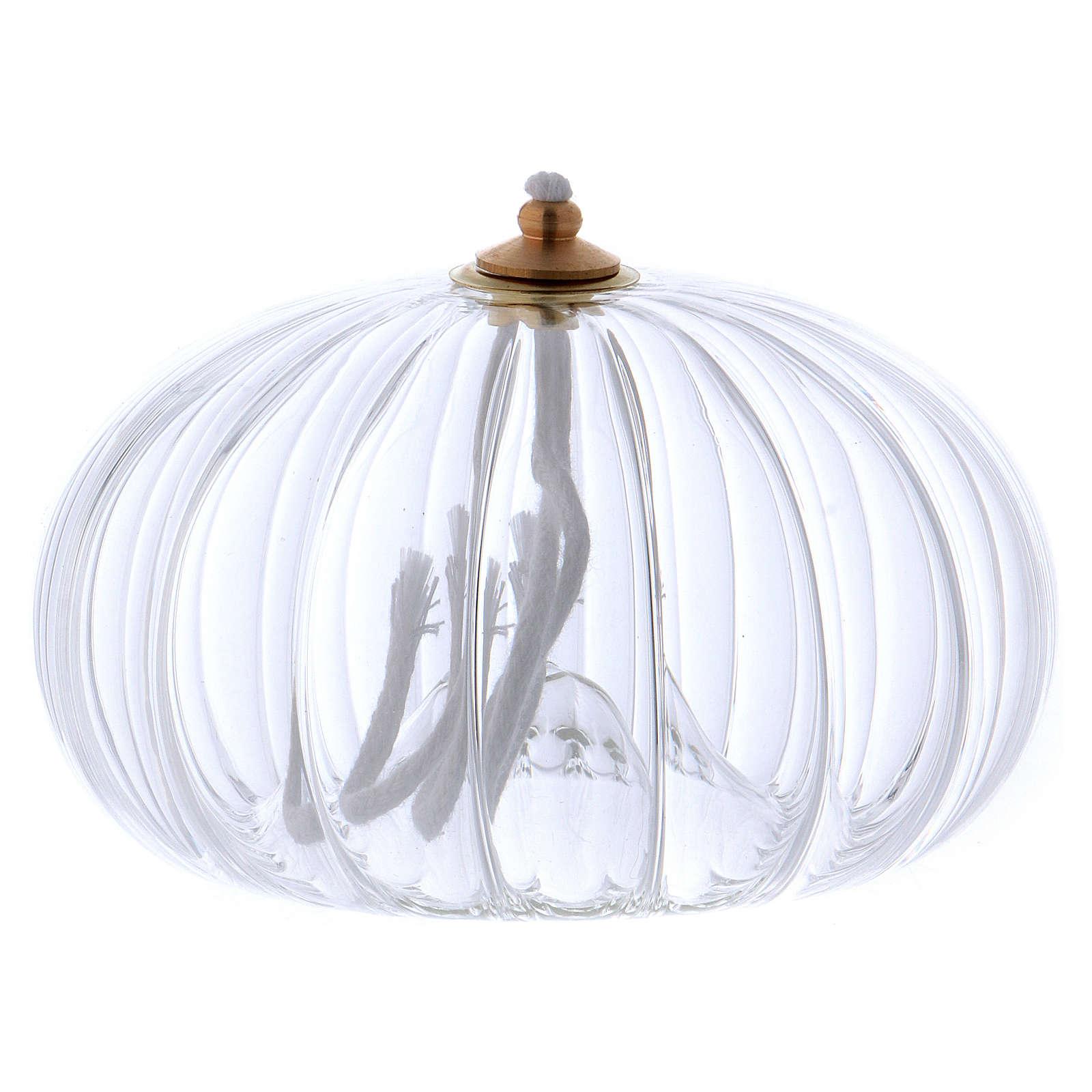 Lampka szkło granat olej parafinowy 3