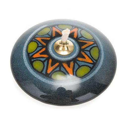 Small round ceramic lamp 1