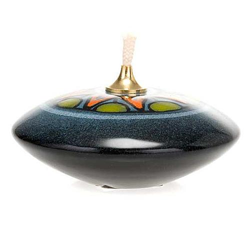 Small round ceramic lamp 2