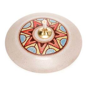 Lampka okrągła mini ceramika s4