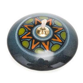 Lâmpadas e Lamparinas: Lamparina redonda mini cerâmica