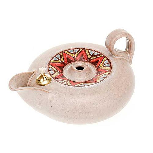 Lamparina Aladim cerâmica 8