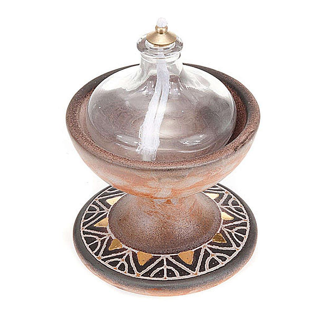 Lámpara copa cerámica 3