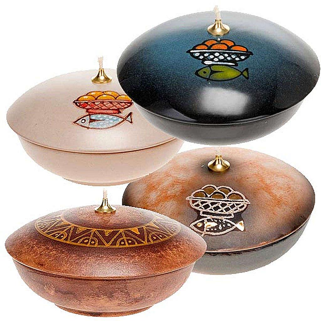 Lamparina taça cerâmica 3