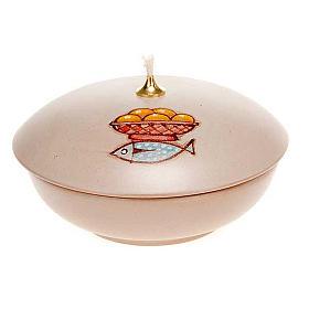 Lamparina taça cerâmica s5