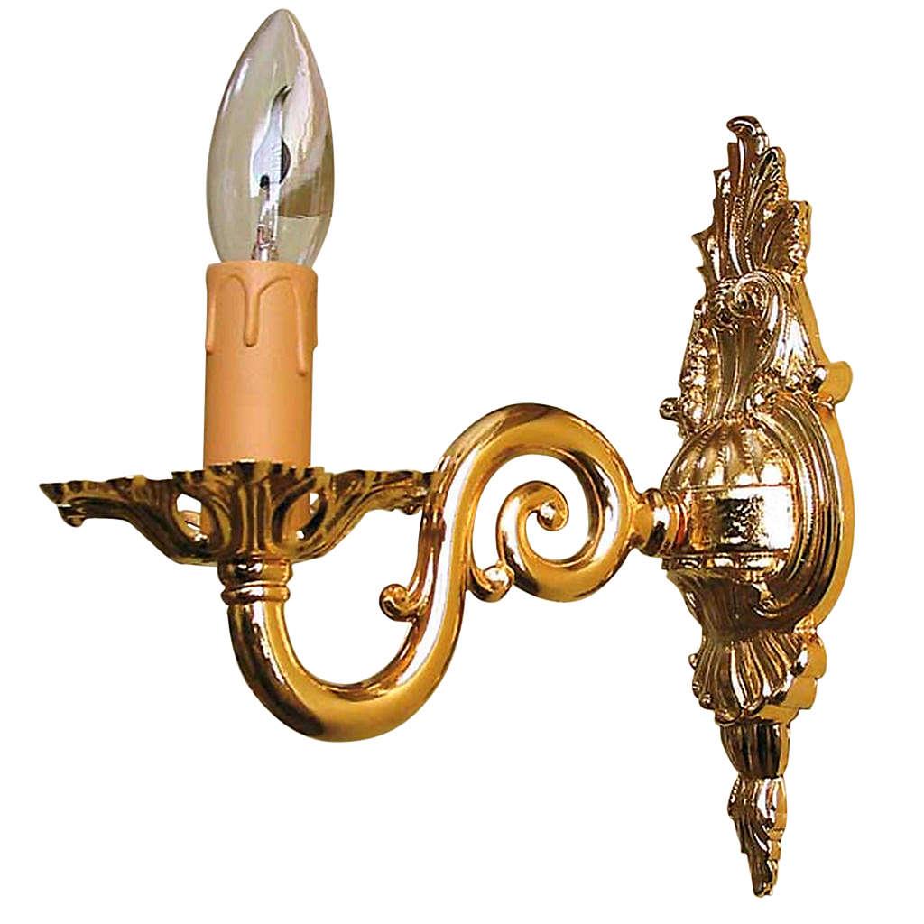 Lámpara de pared 1 brazo dorado 3