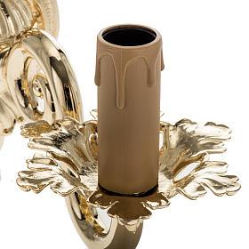 Lámpara de pared 1 brazo dorado s3
