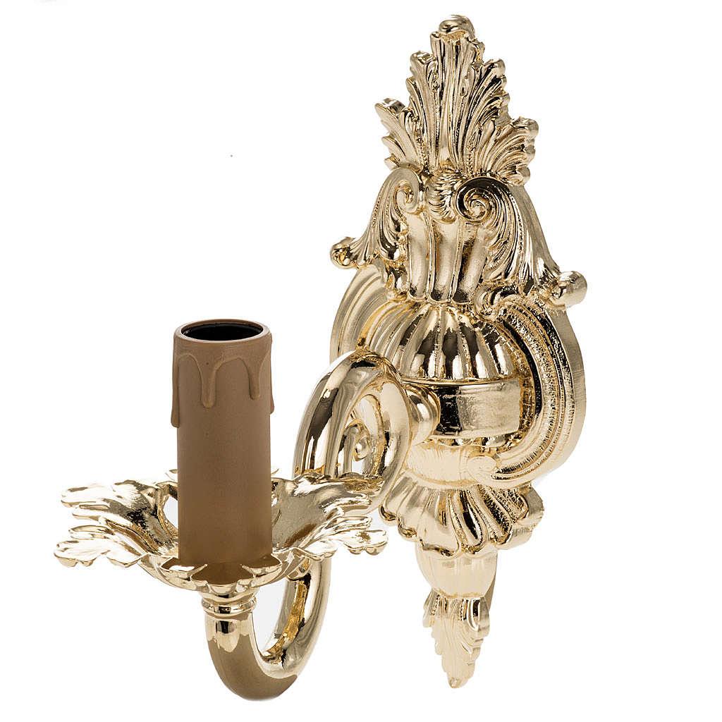 Lampe en applique avec un bras dorée 3