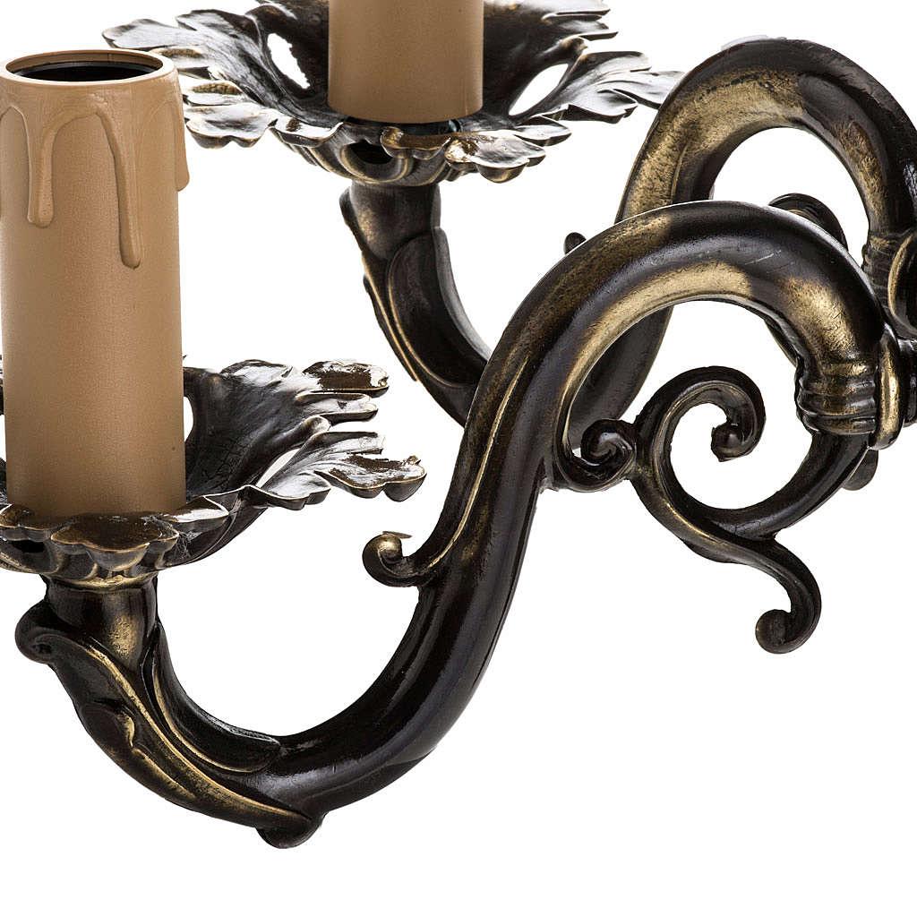 Lámpara de pared 2 brazos estilo antiguo 3