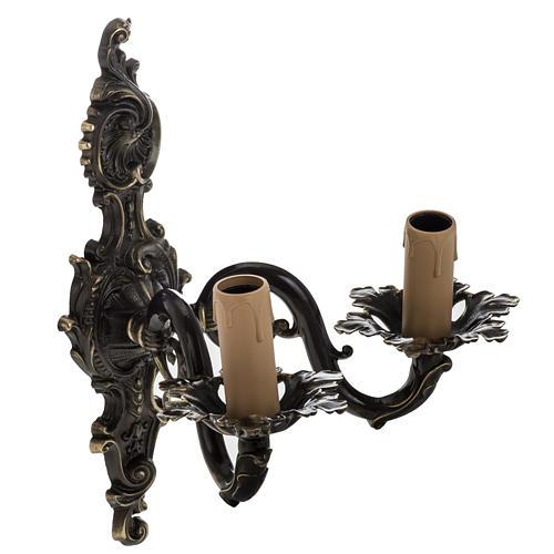 Lámpara de pared 2 brazos estilo antiguo 2