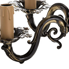 Wall lamp with 2 branches, classic, antique style s5