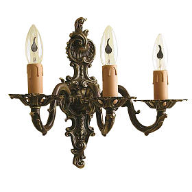 Wall lamp with 3 branches, classic, antique style s1