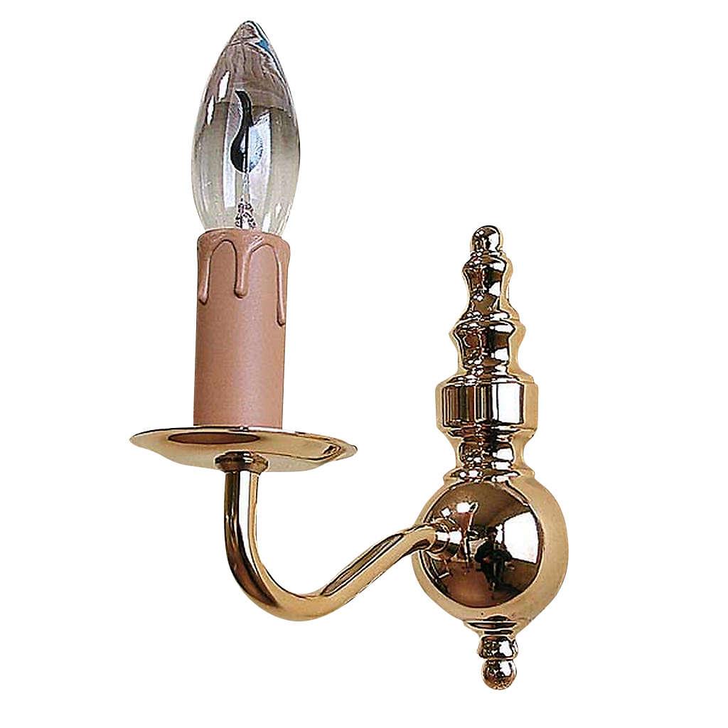 Lámpara de pared clásica 1 brazo dorada 3