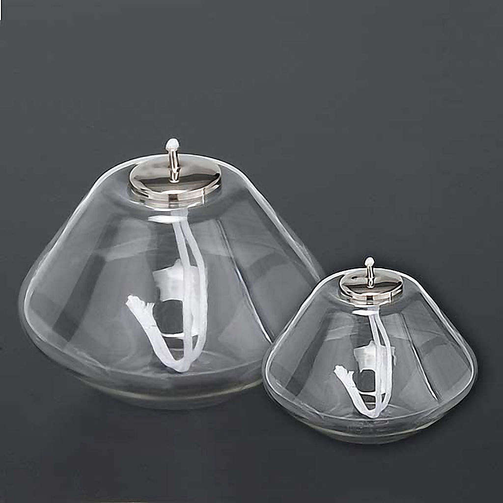Blown-glass lantern, transparent 3