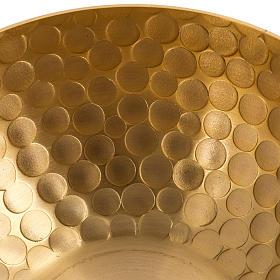 Lampada per cera liquida in ottone martellato dorato s5