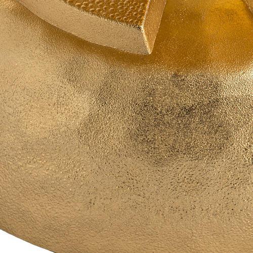 Lampada per cera liquida in ottone martellato dorato 4
