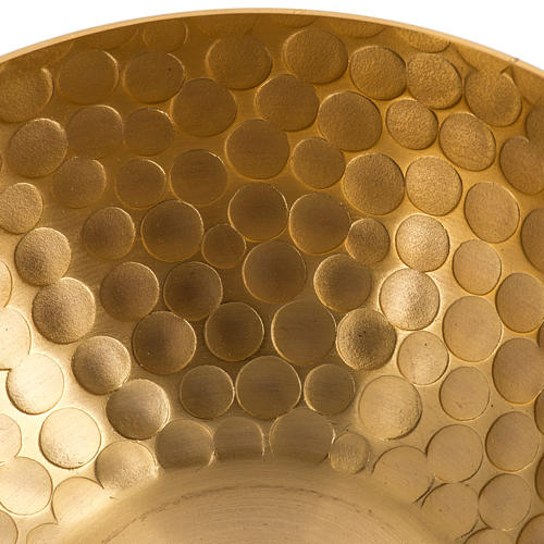 Lampada per cera liquida in ottone martellato dorato 5
