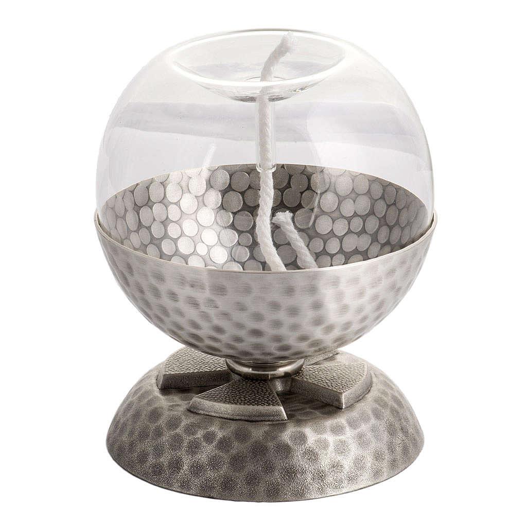 Lámpara para cera líquida en latón plateado 3
