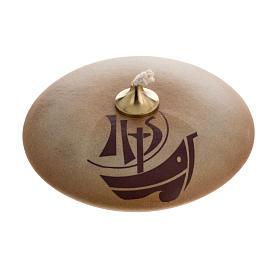 STOCK Lampada olio ceramica color sabbia Anno della Fede s1