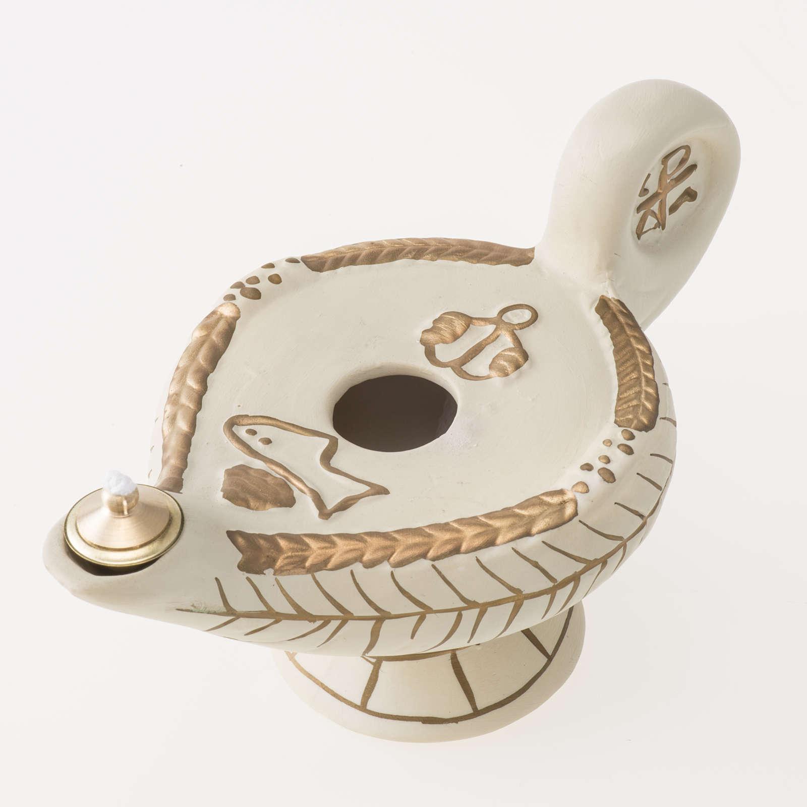 Lampe d'Aladin terre cuite ivoire mod. Alba 3