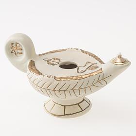 Lampe d'Aladin terre cuite ivoire mod. Alba s1