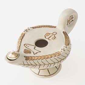 Lampe d'Aladin terre cuite ivoire mod. Alba s3