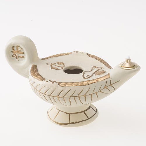 Lampe d'Aladin terre cuite ivoire mod. Alba 1