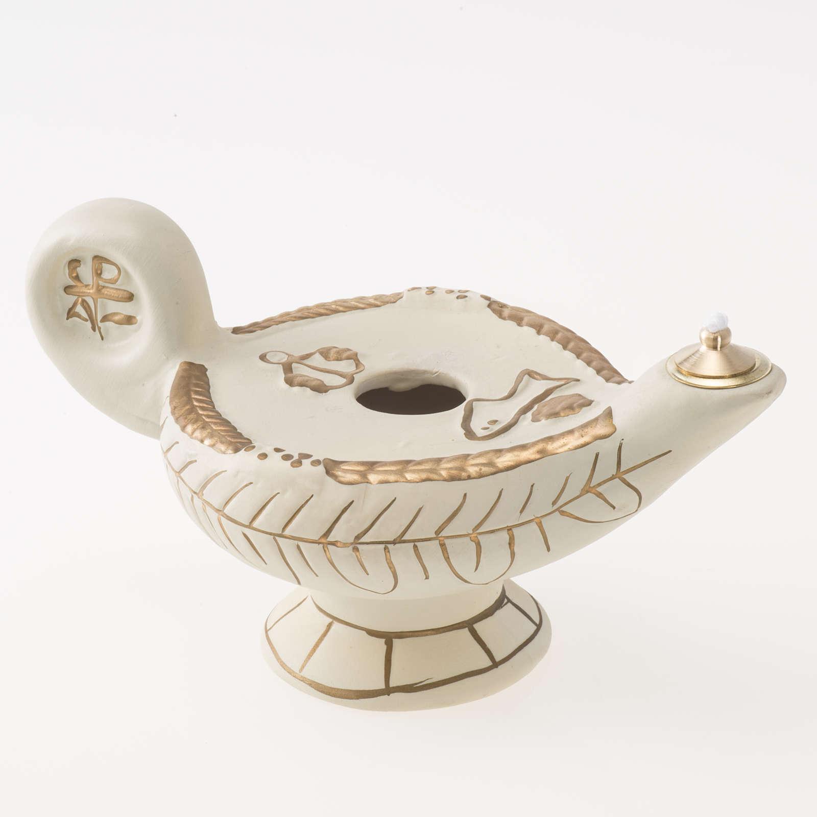 Lamp in ivory terracotta, alba model 3