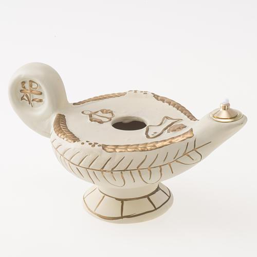 Lamp in ivory terracotta, alba model 1