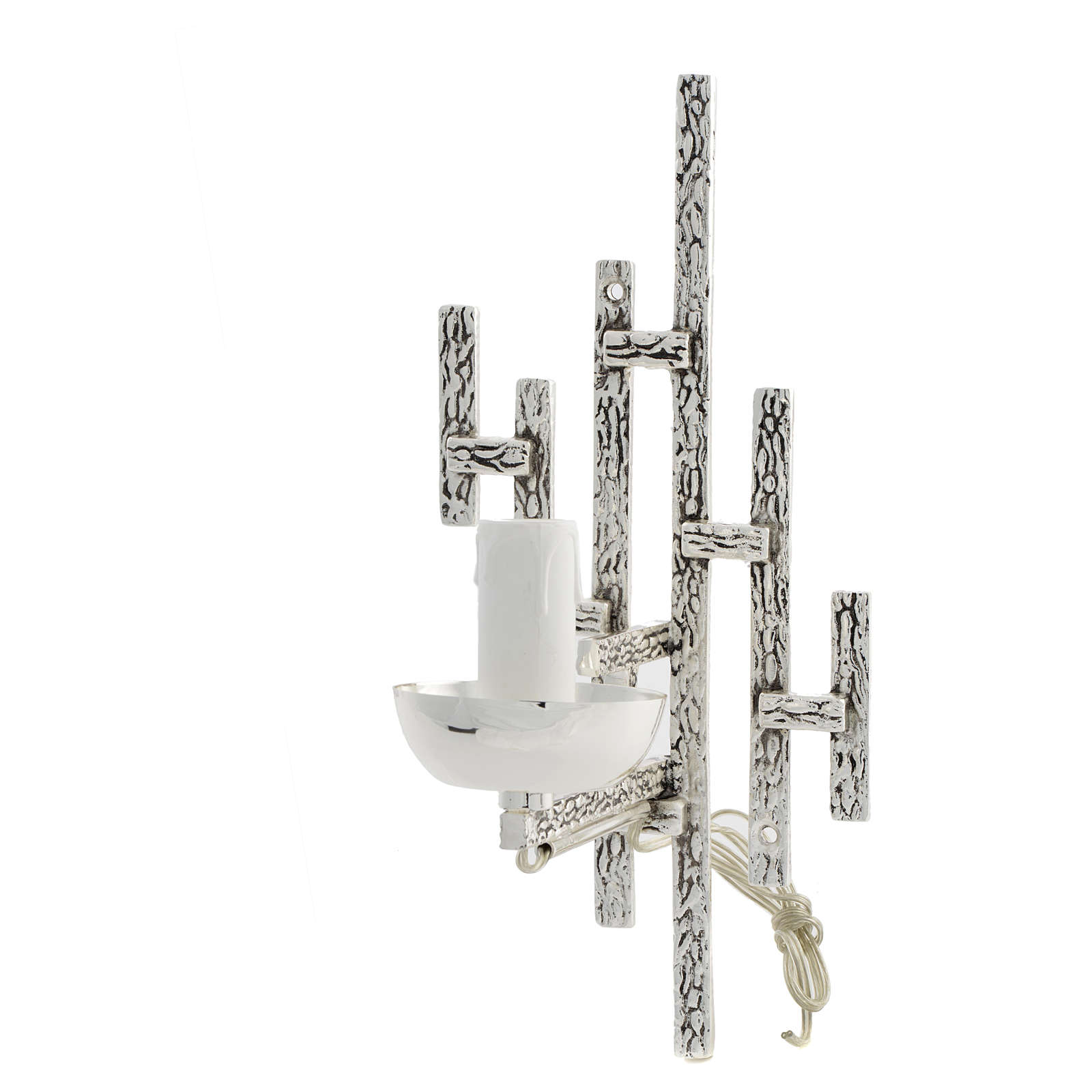 Braccio per Via Crucis ottone con candela elettrica 3