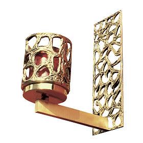 Braccio per Via Crucis in ottone fuso dorato s1