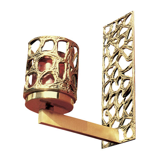 Braccio per Via Crucis in ottone fuso dorato 1