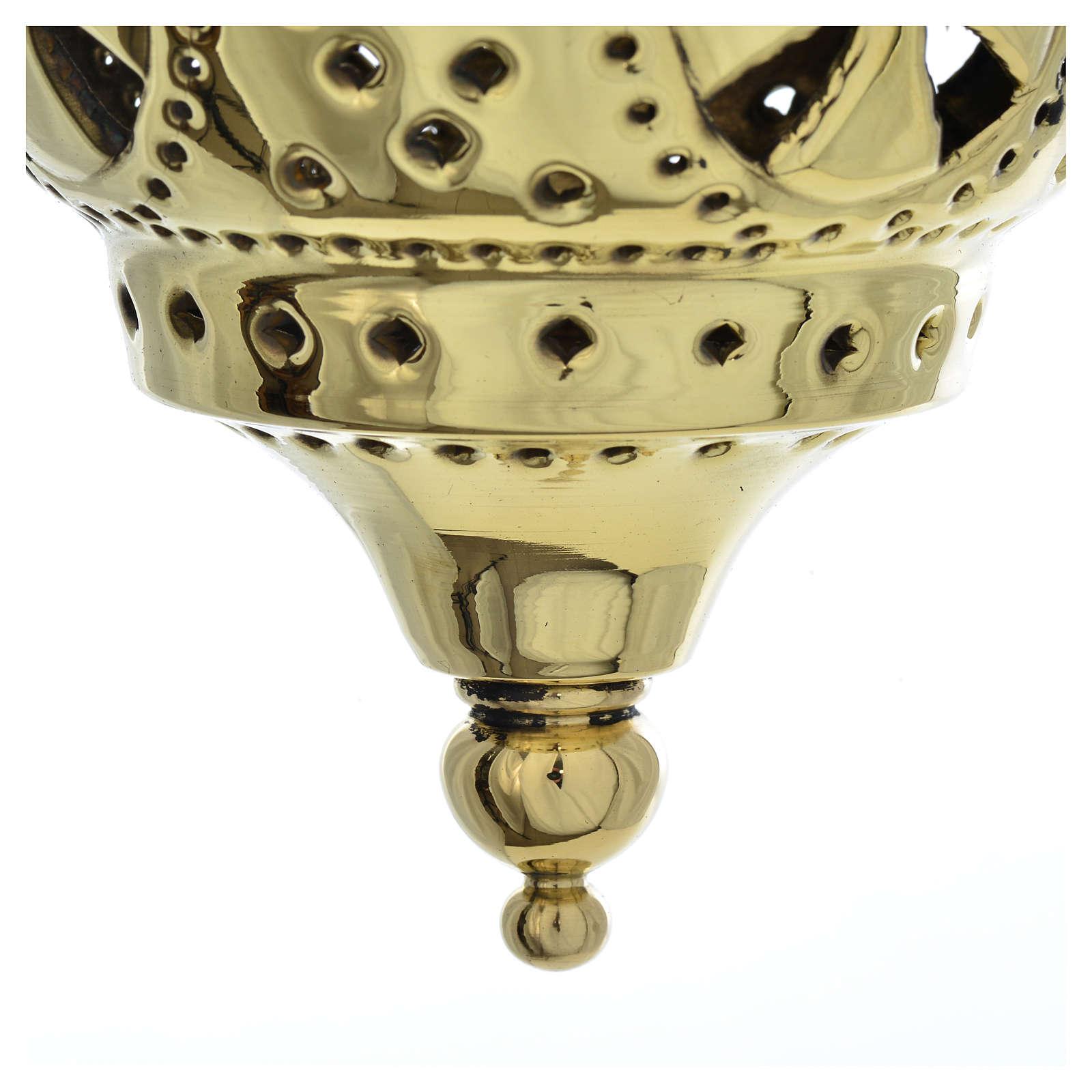 Lampe orientale pour église Moines Bethléem h 13 cm 3