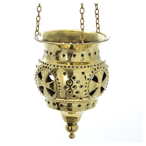 Lampe orientale pour église Moines Bethléem h 13 cm 1