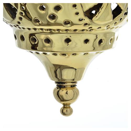 Lampe orientale pour église Moines Bethléem h 13 cm 4