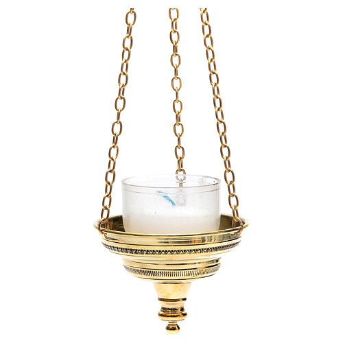 Lampe romaine pour église Moines Bethléem h 6 cm 2