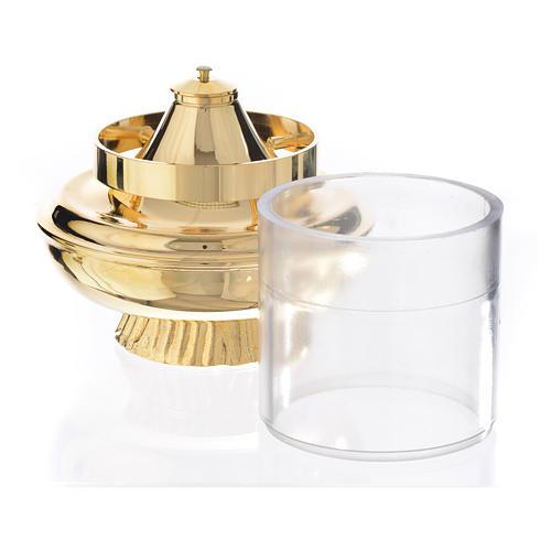 Liquid wax altar lamp, white on a base of 15.5cm 2
